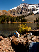 High Mountain Lake - and a good spot for lunch!